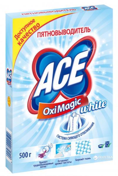 Плямовивідник ACE Oxi Magic White 500г
