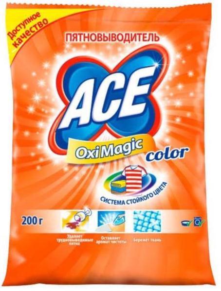 Плямовивідник ACE Oxi Magic Color 200г
