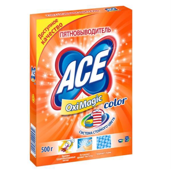 Плямовивідник ACE Oxi Magic Color 500г