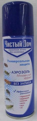 Аерозоль від комах ЧИСТЫЙ ДОМ Діхлофос 150мл 02-552