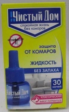 Рідина від комарів ЧИСТЫЙ ДОМ Без запаху 30 ночей 02-605