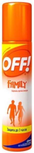 Аерозоль від комарів OFF! Family 100мл
