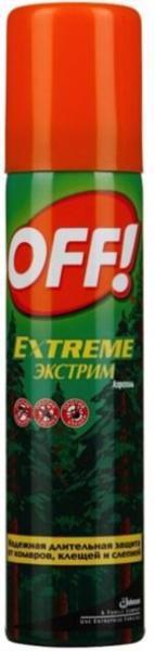 Аерозоль від комарів, кліщів, гедзів OFF! Extrime 100мл