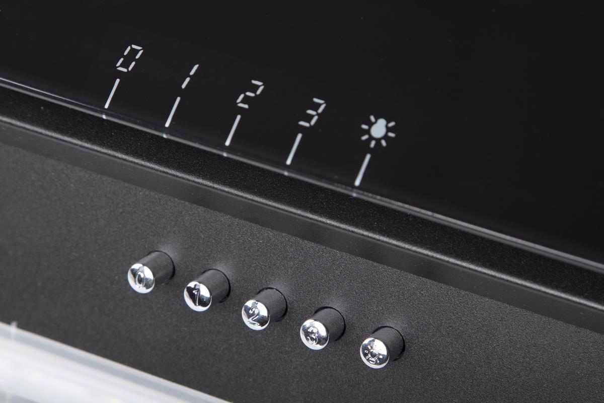 Витяжка накл. VENTOLUX Torino 60 BK (750) PB