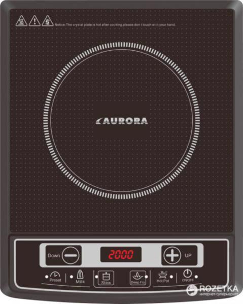Електроплита AURORA 2000Вт 1нагр. эл-т AU4472