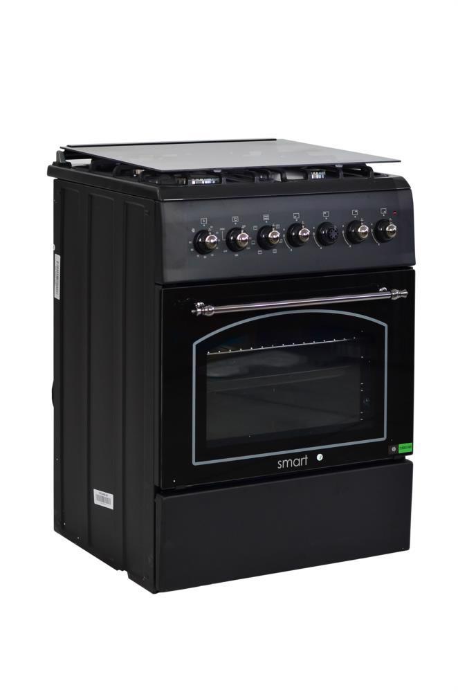 Плита газ/електр. SMART F6TL40E6-RA чорна