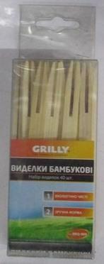 Набір виделок бамбукових 40шт Grilly BBQ-909