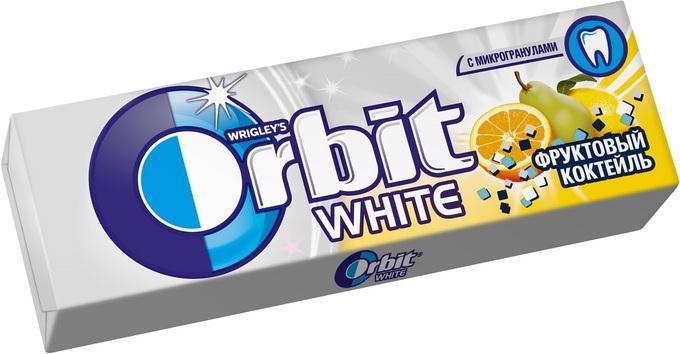 Гумка жувальна ORBIT White Фруктовий коктейль