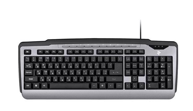 Клавіатура комп. 2E KM1010 USB Gray