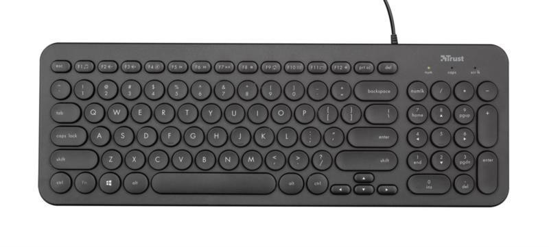 Клавіатура комп. TRUST Muto Silent Black
