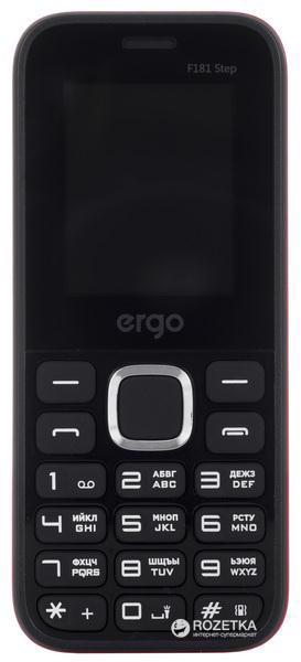 Мобільний телефон ERGO F181 Step DualSim Black