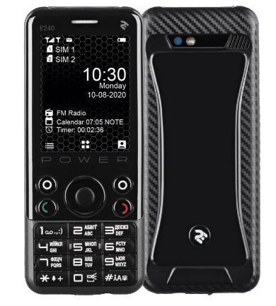 Мобільный телефон 2E E240 Power DualSim Black