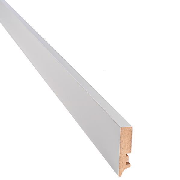 Плінтус ПП 70*16*2400мм білий мат.