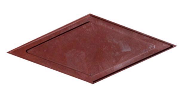 Плитка тротуарн. Ромб червон. h-45мм /Радуга/