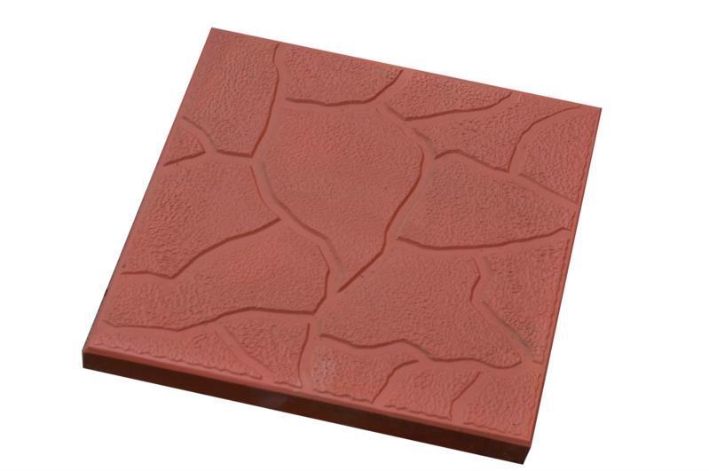 Плитка тротуарн. Камінь червон. 300*300 h-30мм /Радуга/