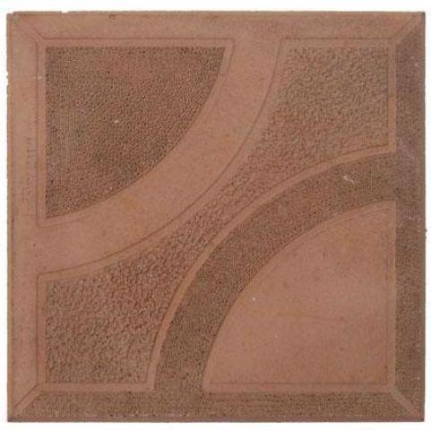 Плитка тротуарн. Сектор червоний 250*250 h-25мм /Радуга/