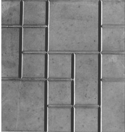 Плитка тротуарн.ВЕСЕЛКА Шоколадка серая 500*500 h-50мм