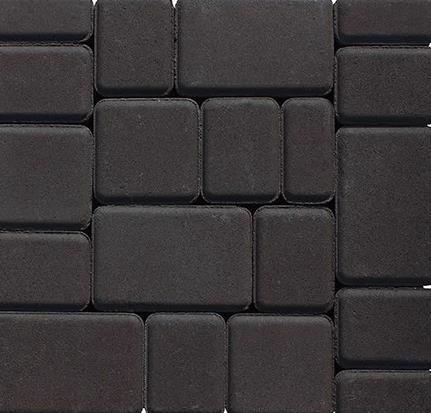 Плитка тротуарна Старе місто чорний (180;120;90)*120мм h-40мм